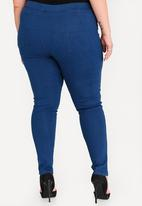 STYLE REPUBLIC PLUS - Basic Jeggings Mid Blue