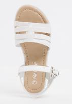POP CANDY - Buckle  Detail Sandal White