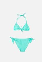 POP CANDY - Frilled Halter Bikini - Mint