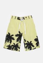 POP CANDY - Palm Tree Boardshorts Mint
