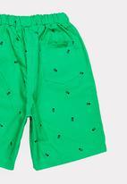 POP CANDY - Skull printed shorts - green