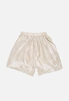POP CANDY - Velour Shorts Silver