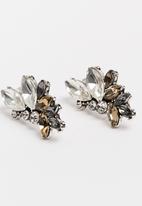 STYLE REPUBLIC - Bold Diamante Earrings Multi-colour