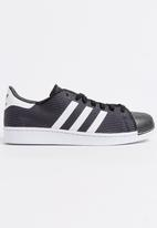 adidas Originals - Adidas Superstar 2 Tone Knit Sneakers Black and White