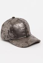 STYLE REPUBLIC - Distressed Studded Cap Dark Grey