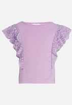 See-Saw - Lace frill top - mid purple