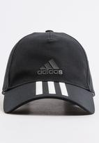 65fd6aefd7e3a adidas Performance - C40 6 Panel 3-Stripes Climalite Cap Black and White