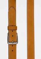 JEEP - Twin Needle Stitch Leather Belt Tan