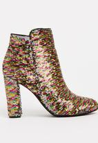 Zoom - Angie Sequins Boots Multi-colour