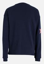 name it - Girls Sequin Star Sweater Dark Blue