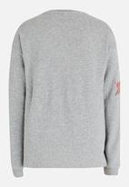 name it - Girls Sequin Star Sweater Grey