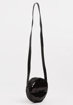 name it - Girls Round Sequins Bag Black