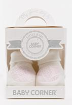 Baby Corner - Girl Lace Booties White