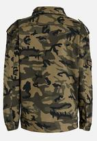 name it - Girls Oversize Camo Jacket Khaki Green