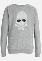 name it - Boys Reversible Sequin Sweater Grey