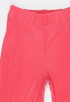 name it - Girls Pleated Trousers Dark Pink