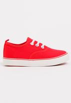POP CANDY - Girls Canvas Sneaker Red