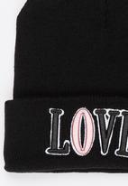 POP CANDY - Printed Love Beanie - Black