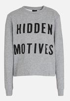 name it - Printed Sweat Top Grey