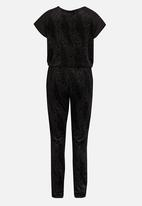 name it - Girls Drawstring Jumpsuit Black