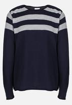 Rebel Republic - Fine Knit Pullover Navy