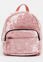 POP CANDY - Velour Backpack Mid Pink