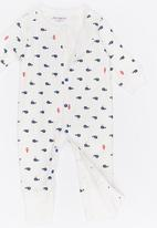 POP CANDY - Printed Sleepsuit Blue and White