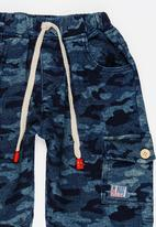 POP CANDY - Camo Printed Pants Dark Blue