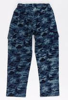 POP CANDY - Camo Printed Pants Dark Blue