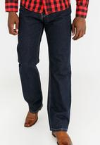SOVIET - M Impact  #7 Straight Leg Denim Blue black denim