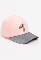 Dazzle - Glitter Leaf Cap Pale Pink