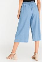 edit - Cropped Wide Leg Pants Pale Blue