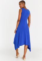 edit - Assymetric Hemlined Dress Cobalt