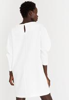 STYLE REPUBLIC - Drop Shoulder Dress Off White