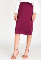 edit - Tailored Pencil Skirt Mid Purple