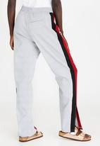 STYLE REPUBLIC - Racing Stripe Pants Grey