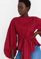 STYLE REPUBLIC - Volume Sleeve Blouse Red