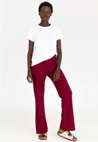 c(inch) - Highwaisted Flared Pants Burgundy