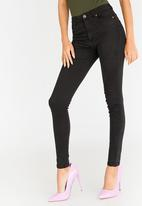 STYLE REPUBLIC - Skinny High Waist Jeans Black