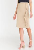 edit - Pencil Skirt with Frills Stone