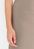 edit - Stretch Pencil Skirt Taupe
