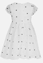 POP CANDY - Polkadot Bow Dress White