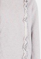 name it - Long Sleeve Frilled Sweat Top Grey