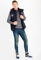 Tokyo Laundry - Sleeveless Puffer Jacket Navy