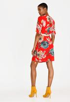 ONLY - Katherine 3/4 Wrap Dress Red