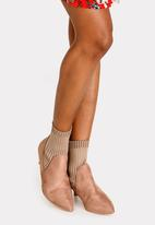 Jada - Stretch Ankle Boots Taupe