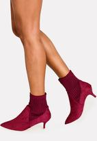 Jada - Stretch Ankle Boots Burgundy