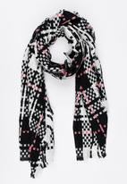 STYLE REPUBLIC - Check Wrap Scarf Multi-colour