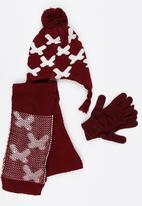 Soobe - Scarf, Beanie and Gloves Sets Maroon