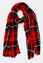 STYLE REPUBLIC - Check Wrap Scarf Red